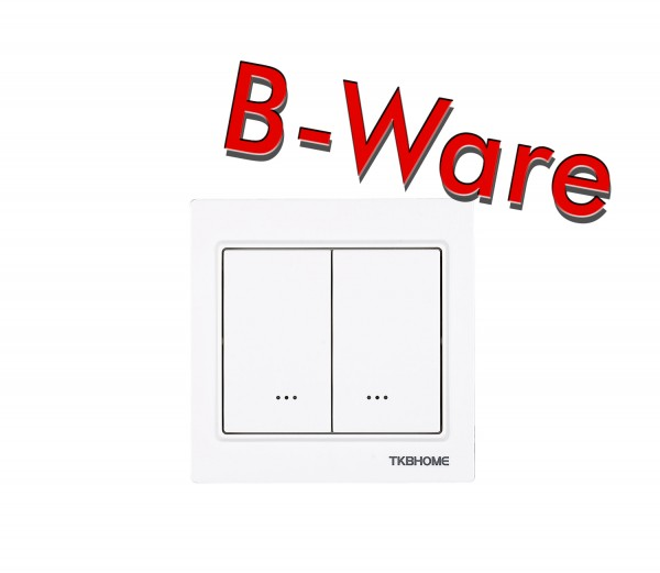 TKB Home Double Relay Wall Switch (Cornered Frame)