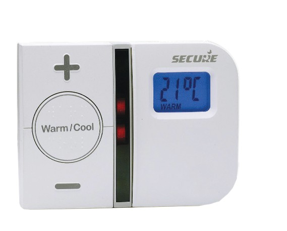 Secure Timer Controlled Wall Thermostat