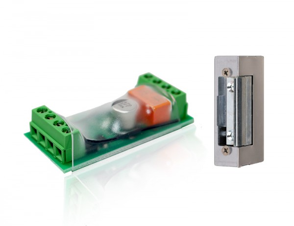 POPP Door Opener Kit: Z-Wave Door Controller + Door Opener (Strike Lock)