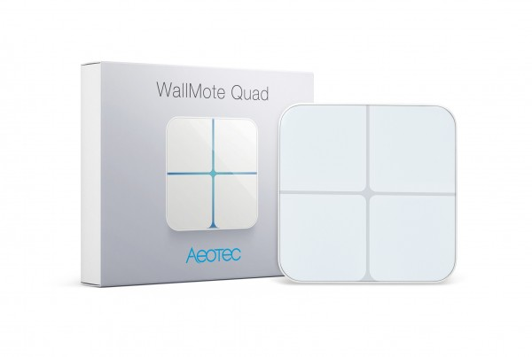Aeotec WallMote Quad - Remote Switch with 4 Buttons