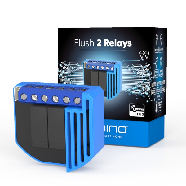 Qubino Flush 2 Relay with Energy Meter (2*0.9 kW)