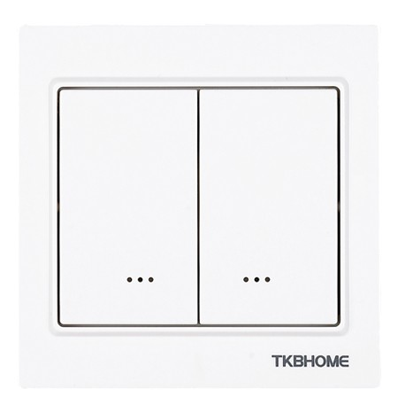 TKB Home Wall Switch with Dual Paddle (Corned Frame)