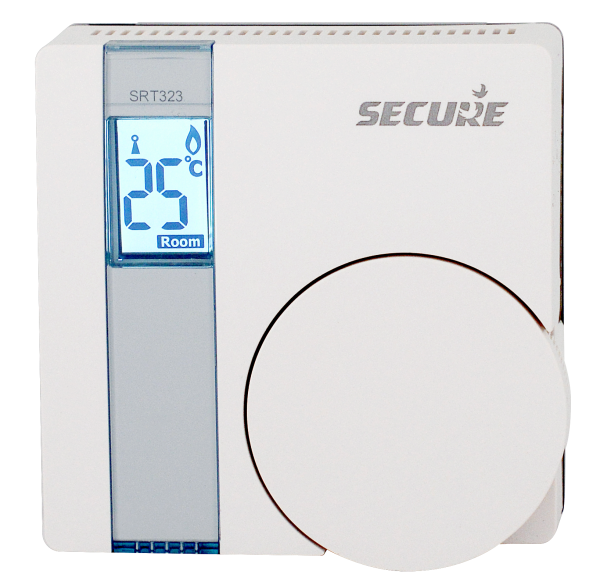 Secure Electronic Room Thermostat with Temperature Sensor