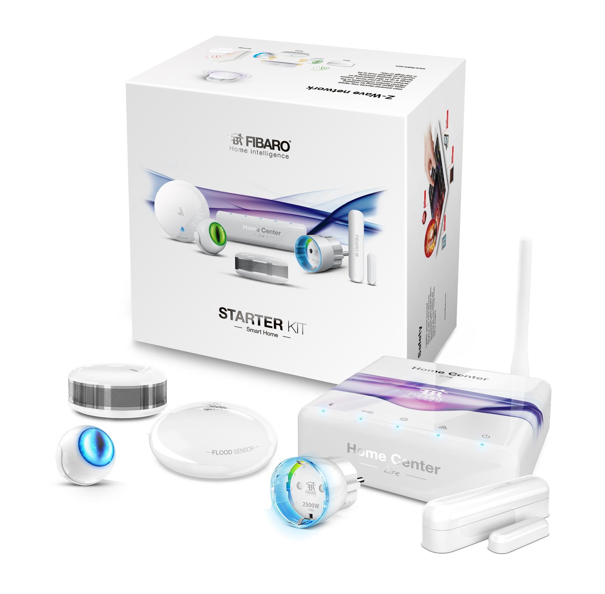 fibaro starter kit smart home gateways z wave controller products z wave europe store. Black Bedroom Furniture Sets. Home Design Ideas