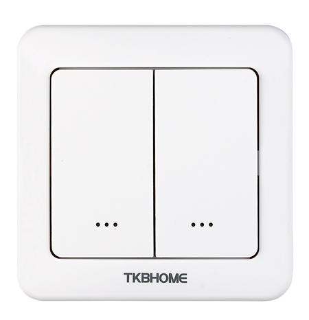 tkb home wandschalter mit zweifach wippe abgerundete ecken schalter lichtsteuerung. Black Bedroom Furniture Sets. Home Design Ideas